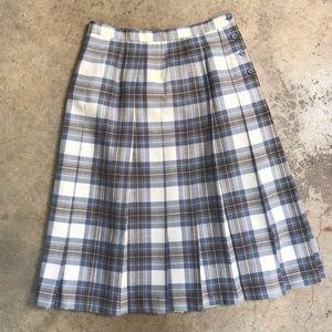 Vintage Deans of Scotland Pure Wool Plaid Skirt